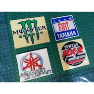 Sticker Cutting Monster Energy Semakin In Front Fiat Yamaha Rxz Reflect Pantul Motorcycle Stickers