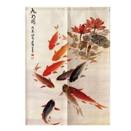 Noren Koi Fish Japanese Curtain Noren Japanese Curtain Doorway Half Curtain Feng Shui Door Curtain
