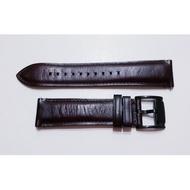 FOSSIL 22mm深咖啡色錶帶