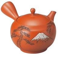 《富樂雅居》日本製 常滑燒 拍水 朱泥富士山 急須壺 (290ml)