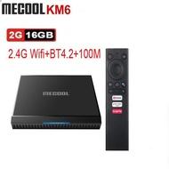 Mecool KM6 deluxe Amlogic S905X4 Android 10 TV BOX G0gle Certified TVBOX 4GB 64GB Support Wifi6 AV1 BT5.0 4K Set Top Box 2G 16G