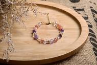 【神山晶礦】超七手鍊/紫水晶/草莓/紅髮晶/鈦金/珍珠