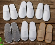 10 Pair/Lot Hotel Star Hotel Disposable Slipper Non slip Ventilation Eva Travel Hotel Indoor Guest Slippers White Shoes