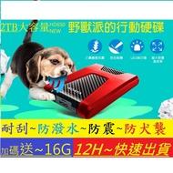 威剛 2TB~4TB 行動硬碟 送16G隨身碟 MAC TYPE-C 可用 防震 防潑水 防犬襲