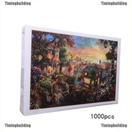 Tbmy 1000PCS Jigsaw Puzzles Educational Toy Scenery Quiet Town Adult Kid Puzzle Motivated
