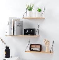 NaVa Nordic Solid Wood Floating Wall Shelves Cabinet tv Home Deco Rack Mount Books Storage Shelf