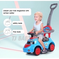 Aero ride on baby push car baby walker with safety bar [English]