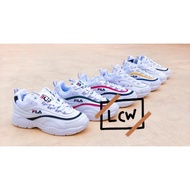 Fila Dad Shoes Ray Dad Laser Thick Bottom Pink Yellow Green Fila