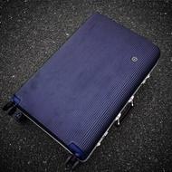 วินเทจอลูมิเนียมกรอบกระเป๋าเดินทางล้อสากลกระเป๋าเดินทางชาย24-นิ้วLockboxคณะกรรมการแชสซี20-นิ้วรถเข็นของผู้หญิง26-นิ้ว