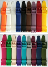 Fit Swatch Colorful See-through Type Silicone Strap Swatch Colorful Rubber Watch Strap 19mm Watch Accessories
