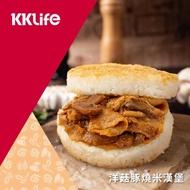 【KKLife-紅龍】鮮香洋菇豚燒米漢堡(170g/顆; 3顆/袋)