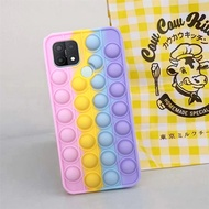 Oppo A15 A15S Realme C11 C12 C15 Realme 5 5I 5S C3 Reno 5F A94 Pop It Fidget Toy Push Bubble Shockproof Soft Case Sensory Stress Reliver Toy Cover Android Phone Case