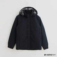 Hang Ten - 男裝 - ThermoContro-簡約純色防風連帽外套-藍