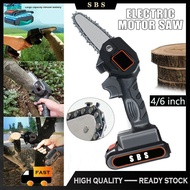 6 Inch Mini Electric Chainsaw Ever Battery-Powered Wood Cutter Rechargeable Cordless Electric Secateurs Tree Branch Pruner Wood Cutter High Quality 24V Mini Electric Chainsaw Portable Pruning Shears Garden Tools