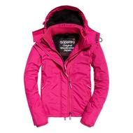 跩狗嚴選 極度乾燥 Superdry Arctic 風衣 外套 刷毛 防風 黑 桃紅 三拉鍊