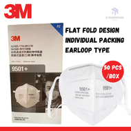 3M 9501+ KN95 FFP2 Fordable Disposable Face Mask , Particulate Respirator 50 Pcs/Box Filter PM 2.5
