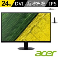 【acer】SA240Y 24型 IPS不閃屏+濾藍光 無邊框超薄螢幕
