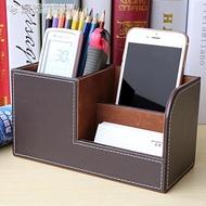 筆筒 桌面多功能筆筒文具名片收納盒辦公室創意時尚學生韓國可愛小清新