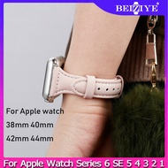 Leather strap band For Apple watch 38mm 40mm 42mm 44mm women sport watchband Replacement bracelet for Apple watch bandSeries 6 SE 5 4 3 2 1
