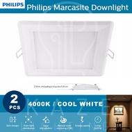 Philips Marcasite Downlight Square 12w 4000k 2pc