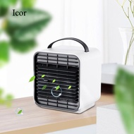 Icor Portable Mini 3-Speed Adjustable USB Powered Negative Ion Air Conditioners Cooler Fan for Home Apartment Office Bedroom Living Room