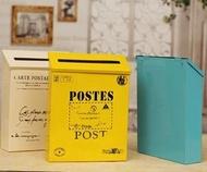 小號意見箱 帶鎖信箱 掛牆鐵皮箱 田園美式郵箱 歐美裝飾箱LX