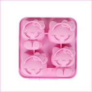 asdfkitty可愛家☆KITTY 4合1矽膠模型-做巧克力.手工皂.冰塊.蛋糕.布丁-日本正版商品