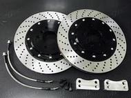 BMW F15 X5 後380mm雙片式加大碟盤【YLTECH】