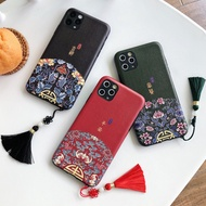 Chinese Style Tassel Phone Case Shell For OPPO R11 S PLUS R15 R15S R17 RENO Soft Shell Matte Coque Anti-knock Cover