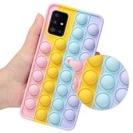 Pop Push it Bubble Fidget Toys Phone Case OPPO Realme C21 C20 C25 C11 2021 C15 C12 C11 C3 Realme 8 4G 8 Pro 5 5s 5i V5 Q2 X2 XT Silicon Soft Cover