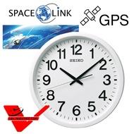 นาฬิกาแขวน SEIKO ตั้งเวลาด้วยระบบ GPS CLOCKS SPACE LINK WALL CLOCK RADIO CONTROLLED รุ่น QXZ002W