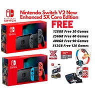 [READY STOCK]Nintendo Switch V2 New Enhanced Jailbreak SX Core With Games+Ring Fit+Full Accessories