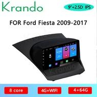 "Krando Android 10.0 9 ""สำหรับFord Fiesta 2009-2017เครื่องเล่นวิทยุGps Mavigationระบบมัลติมีเดีย"