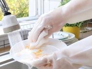 刷碗手套 洗碗手套女丁晴橡膠丁?膠皮廚房洗菜家務用清潔耐用型防水洗衣服