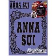 ANNA SUI歡慶日本上市15週年紀念特刊附LOGO刺繡黑色大型托特包
