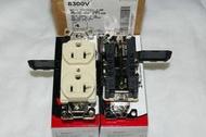 美國電料大廠 Cooper( EAGLE)醫療級獨立接地插座 IG 8300 V(象牙白色)~五爪結構