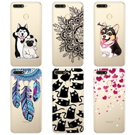 Huawei Y6 Prime 2018 Printed Case Cartoon Back Cover For Huawei Y6 Prime 2018 Soft Tpu Case For Huawei Y6 Prime 2018