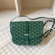 กระเป๋าGoyaสง่างามสำหรับผู้หญิงที่มีไหล่ข้างหนึ่งสะพายและกระเป๋าบุรุษไปรษณีย์เกาหลีสำหรับGoyard DogและLady Canvas Bag