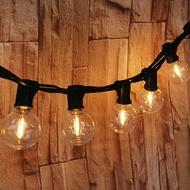 《愛露愛玩》LED 鎢絲 防水戶外燈串 G40 7.6米 25燈 露營燈串 防水燈串 燈泡 鎢絲燈 露營