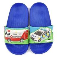 【童鞋城堡】造型款輕量拖鞋 Tomica多美小汽車(TM1808-藍)