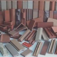 射出擠出面磚、還原磚、克硬化磚、陶壁磚、二丁掛、方塊磚、樓梯磚、轉角磚、車道磚、庭院磚、山型磚、部開磚、地磚各種特殊磚