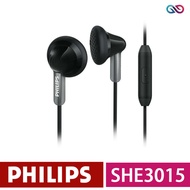 【PHILIPS 飛利浦】耳塞式耳機免持聽筒(SHE3015)