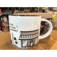 西雅圖星巴克 創始店   城市杯/琺瑯質/不鏽鋼 手把保溫杯