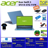 """ACER SWIFT SF314-57G-71FN /i7-1065G7/8GB/512GB SSD/MX250 2GB/14""""FHD/Win10/3Y/Blue/BY Topcomputer"""