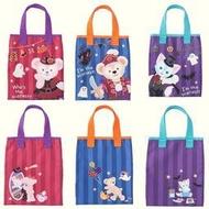 現貨~Coco馬日本代購~日本海洋迪士尼 2016萬聖節限定 達菲 雪麗梅 畫家貓 手提袋 提包 購物袋 側背袋