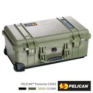 ..  美國 PELICAN 1510 NF 輪座拉桿氣密箱-空箱 不含泡棉 綠色 公司貨