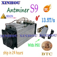 Used BTC BCH Miner AntMiner S9 13.5T Asic sha256 Bitcoin miner With BITMAIN APW3++ 1600W PSU Economic Than S9 S11 WhatsMiner M3X
