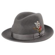 美國 NEW YORK HAT手工紳士帽 - THE FEDORA 三凹長簷紳士帽-灰色