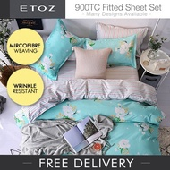 U.P. $69.90 70% OFF ETOZ NEW DESIGNS! 950 TC Fitted Sheet Set★★Printed Bedsheet