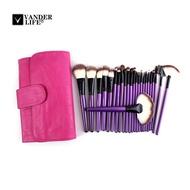 VANDER LIFE 24 Pcs Makeup Brushes Cosmetic Tool Kits Professional Eyeshadow Powder Eyeliner Contour